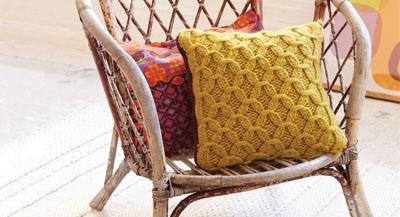 Cluster stitch pillow