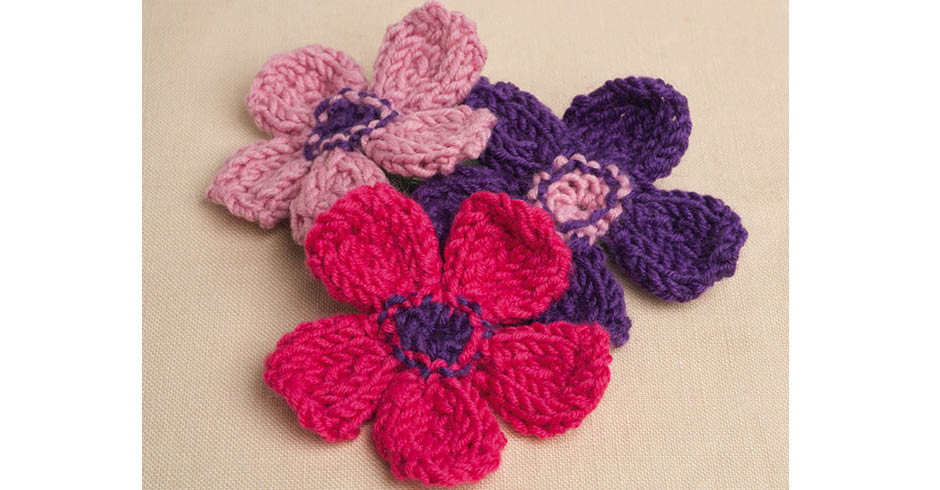 Knitting Magazine Pattern Five Petal Flower Knitting Magazine