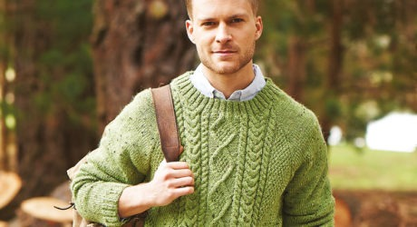 Cable Sweater by Stylecraft